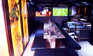 Onyx room with interactive screens at inamo Covent Garden