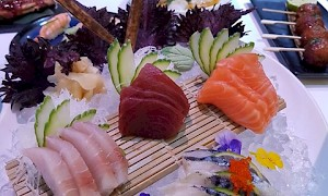 sashimi platter at inamo