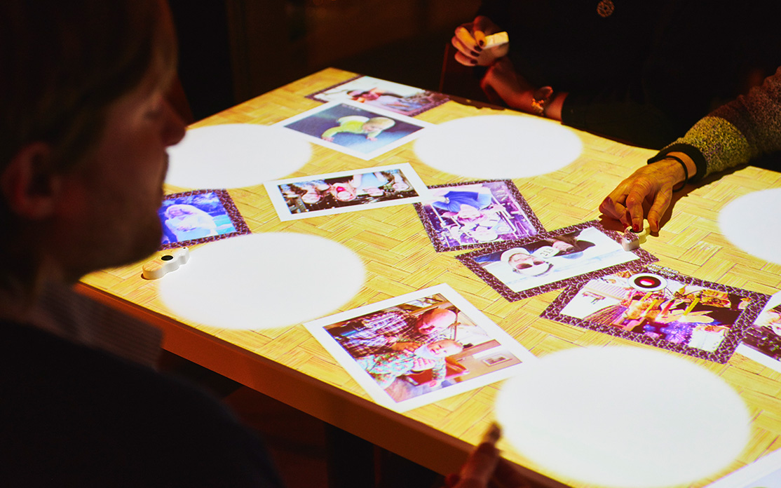 Customise your table surface at inamo with personalised images.