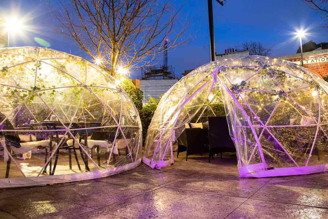 Pop-Up Dining Domes at inamo Camden