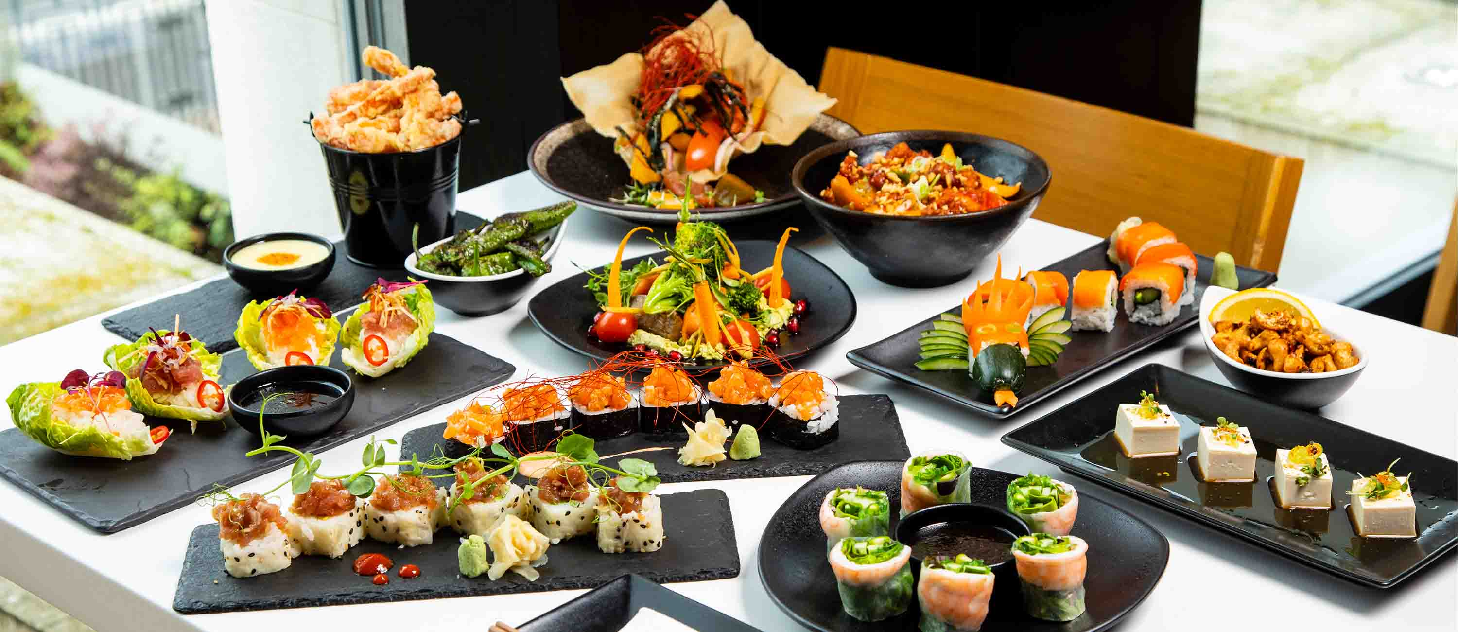selection of new dishes on inamo's menu